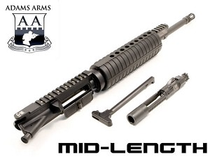 "Adams Arms 5.56 Piston Driven 16"" Midlength AR15 Base Upper  UA-16-M-B-556"