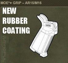 Magpul Rubberized MOE+ Grip Rubber Armored