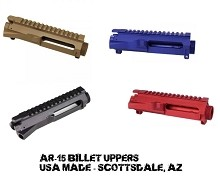 Guntec USA AR15 Stripped BILLET Upper Receiver AR-15 M4 Ramps