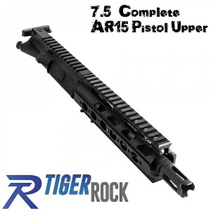 "Tiger Enhanced AR-15 7.5"" 223 Wylde Pistol Complete Upper AR15"
