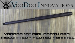 "Adams Arms 18"" Melonited Fluted Match Barrel Midlength Rifle Voodoo"