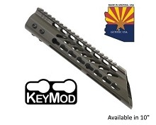 Guntec USA O.D. Green Ultra Lightweight Thin Keymod Free Float Handguard W/ Slant Nose