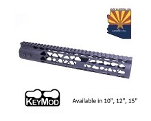 Guntec USA Black Air Lite Keymod Free Float Handguard