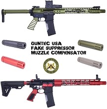 Guntec USA Fake Can Muzzle Brake Compensator Barrel Extension AR10 AR15 AR-15