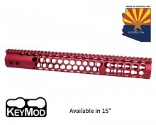 Guntec USA Red Air Lite Series Honeycomb Keymod Free Float Handguard