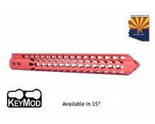 Guntec USA Red Trident Series Ultra Lighweight Thin Keymod Free Float Handguard