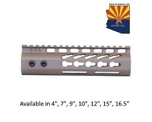 Guntec USA Flat Dark Earth Ultra Lightweight Thin Keymod Free Float Handguard