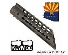 Guntec USA Black Ultra Lightweight Thin Keymod Free Float Handguard W/ Slant Nose