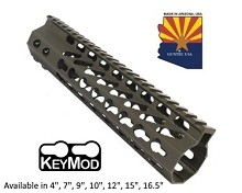 Guntec USA O.D. Green Ultra Slimline Octagonal 5 Sided Keymod Free Float Handguard