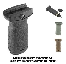 Mission First Tactical MFT RSG AR15 React Short Grip Vertical Forward AR-15 Foregrip