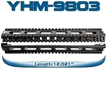 Yankee Hill YHM Drop In Rifle Length AR15 Quad Rail Forearm AR-15 2 Piece 2Pc