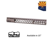 Guntec USA Flat Dark Earth Air Lite Series Honeycomb Keymod Free Float Handguard