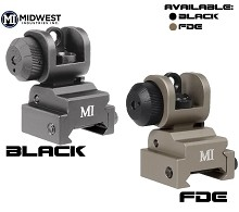 MI Rear Flip Up Back Up Iron Sight BUIS AR15 Midwest