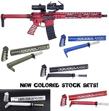 Guntec AIR LITE AR15 Series COLOR Stock Set USA Furniture Kit