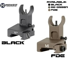 MI Low Profile Rail Mounted Front Flip Up Sight BUIS AR15 Midwest