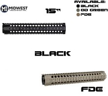 Midwest Industries T Series One Piece T15 Free Float Quad Rail MI