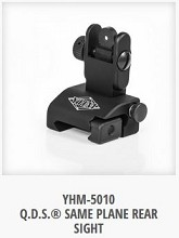 YHM Yankee Hill 5010 Rear Q.D.S. Same Plane Sight Quick Deploy QDS BUIS AR15